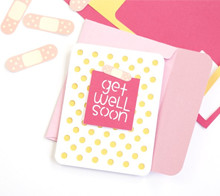 Graphic get well soon card